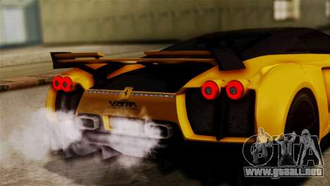 Ferrari Velocita 2013 SA Plate para visión interna GTA San Andreas