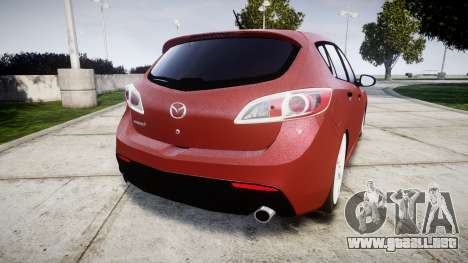 Mazda 3 MPS para GTA 4 Vista posterior izquierda