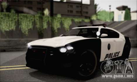 Bravado Buffalo S Police Edition (HQLM) para la visión correcta GTA San Andreas