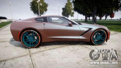 Chevrolet Corvette C7 Stingray 2014 v2.0 TireBr1 para GTA 4 left