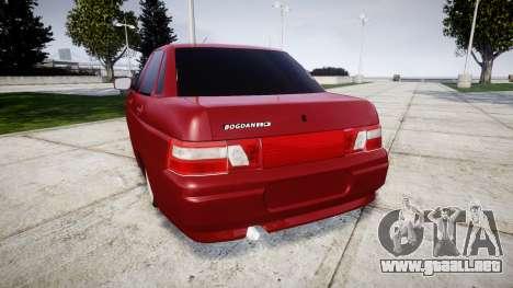 ВАЗ-2110 Bogdan rims2 para GTA 4 Vista posterior izquierda