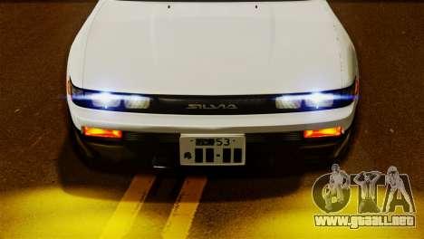 Nissan Silvia S13 1992 IVF para GTA San Andreas vista posterior izquierda