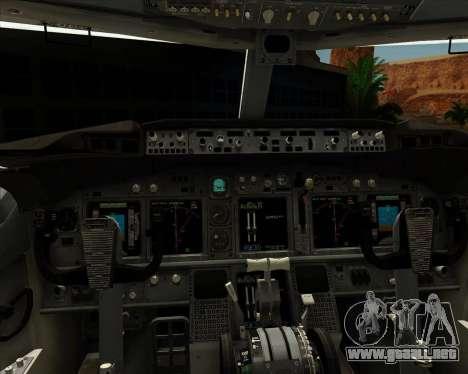 Boeing P-8 Poseidon US Navy para GTA San Andreas interior