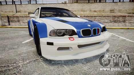 BMW M3 E46 GTR Most Wanted plate NFS MW para GTA 4