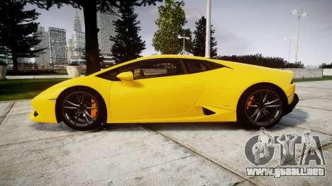 Lamborghini Huracan LP610-4 para GTA 4 left