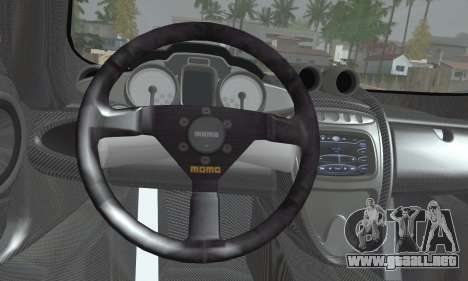Pagani Huayra TT Ultimate Edition para GTA San Andreas vista posterior izquierda