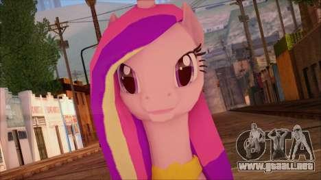 Cadence from My Little Pony para GTA San Andreas tercera pantalla