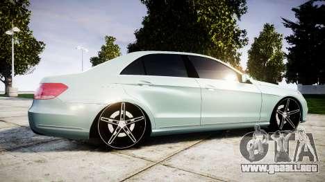 Mercedes-Benz E200 Vossen VVS CV5 para GTA 4 left
