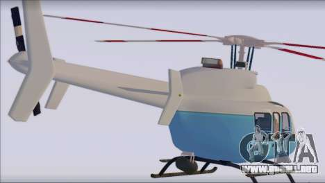 Bell 407 para GTA San Andreas left