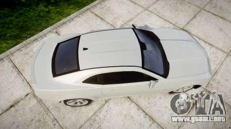 Chevrolet Camaro SS [ELS] Unmarked no side ligh para GTA 4 visión correcta