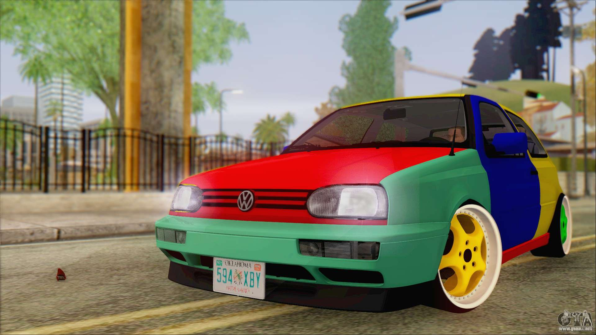 volkswagen golf mk3 harlequin design para gta san andreas. Black Bedroom Furniture Sets. Home Design Ideas