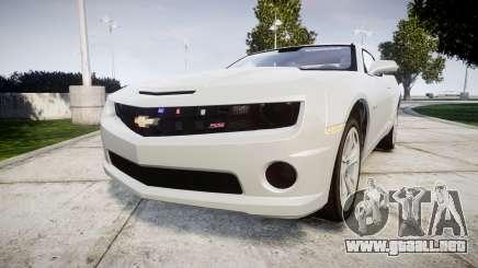 Chevrolet Camaro SS [ELS] Unmarked no side ligh para GTA 4