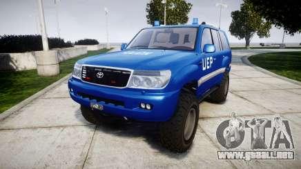Toyota Land Cruiser 100 UEP blue [ELS] para GTA 4