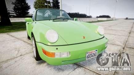 Porsche 911 (964) Cabrio para GTA 4