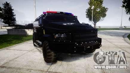 SWAT Van para GTA 4