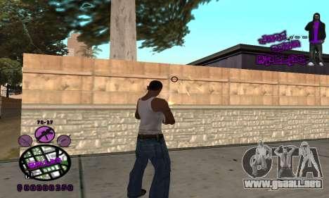 C-HUD Ballas para GTA San Andreas segunda pantalla