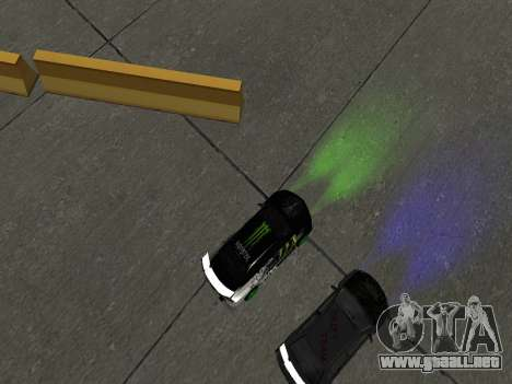 Mitsubishi Lancer Evo 9 Monster Energy para GTA San Andreas vista hacia atrás