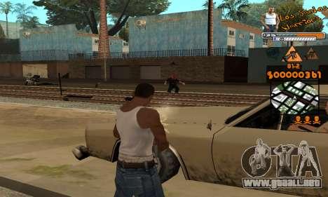 C-HUD LSW para GTA San Andreas quinta pantalla