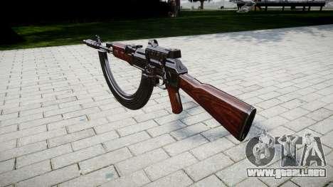 Автомат АК-47 Colimador. Hocico y HICAP targe para GTA 4 segundos de pantalla