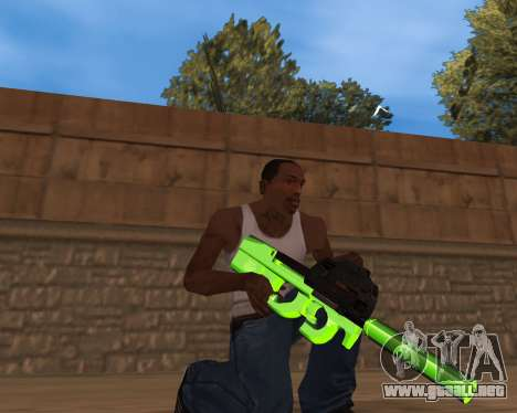 Chrome Green Weapon Pack para GTA San Andreas tercera pantalla