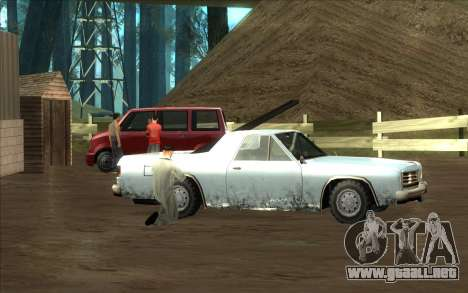 Carretera de garaje de Sigea para GTA San Andreas quinta pantalla
