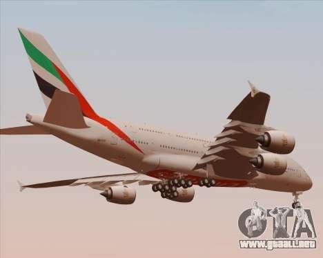 Airbus A380-800 Emirates 40 Anniversary Sticker para la vista superior GTA San Andreas
