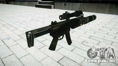 Táctica subametralladora MP5 para GTA 4 segundos de pantalla