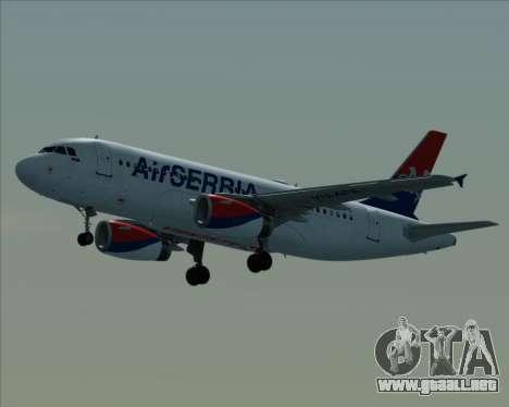 Airbus A319-100 Air Serbia para visión interna GTA San Andreas