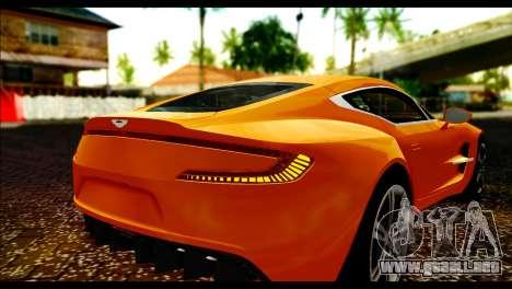 Aston Martin One-77 Black para GTA San Andreas vista hacia atrás