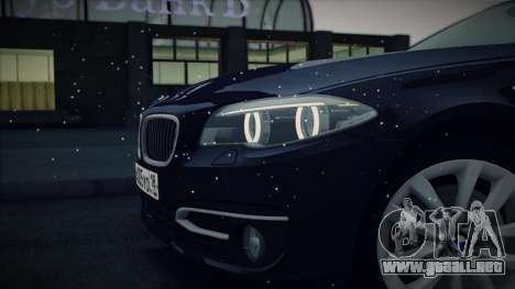 BMW 535i F10 para vista lateral GTA San Andreas