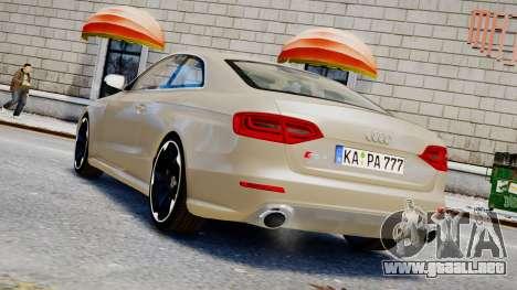 Audi RS4 B8 2013 v1 para GTA 4 left