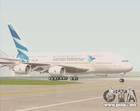 Airbus A380-800 Garuda Indonesia para la vista superior GTA San Andreas