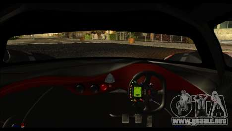 Mazda Furai Concept 2008 para GTA San Andreas vista posterior izquierda