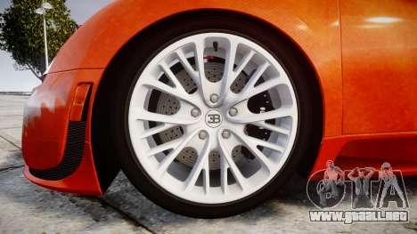 Bugatti Veyron 16.4 SS [EPM] Halloween Special para GTA 4 vista hacia atrás