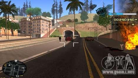 C-HUD Blue para GTA San Andreas sucesivamente de pantalla