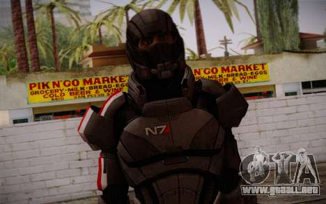 Shepard Default N7 from Mass Effect 3 para GTA San Andreas tercera pantalla