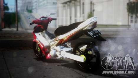 Yamaha Jupiter Mx para GTA San Andreas vista posterior izquierda
