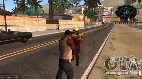 C-HUD Blue para GTA San Andreas segunda pantalla