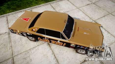 Pontiac GTO 1965 GeeTO Tiger para GTA 4 visión correcta