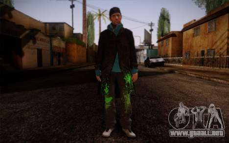 Aiden Pearce from Watch Dogs v9 para GTA San Andreas