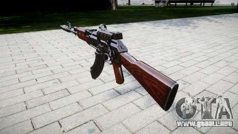 Автомат АК-47 Colimador y el Hocico de freno de  para GTA 4 segundos de pantalla
