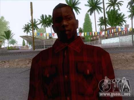 New Fam Skin 1 para GTA San Andreas tercera pantalla
