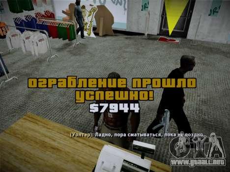 Sistema de robos v4.0 para GTA San Andreas décimo de pantalla