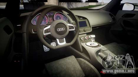 Audi R8 plus 2013 Wald rims Sharpie para GTA 4 vista lateral