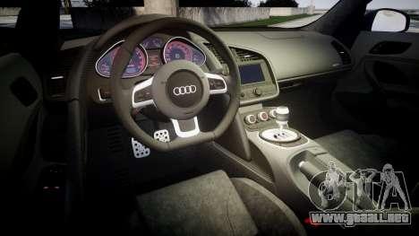 Audi R8 plus 2013 Wald rims Sharpie para GTA 4 vista lateral