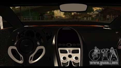 Aston Martin One-77 Black para visión interna GTA San Andreas
