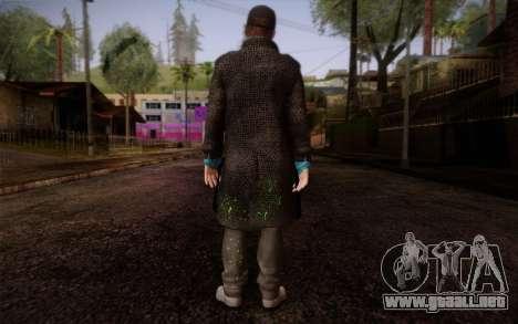Aiden Pearce from Watch Dogs v9 para GTA San Andreas segunda pantalla