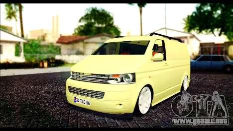 Volkswagen Transporter Panelvan para GTA San Andreas