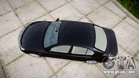 BMW 525d E60 2009 Police [ELS] Unmarked para GTA 4 visión correcta