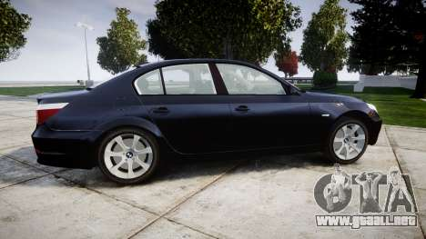 BMW 525d E60 2009 Police [ELS] Unmarked para GTA 4 left